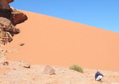 A Bedouin tribal man resting.
