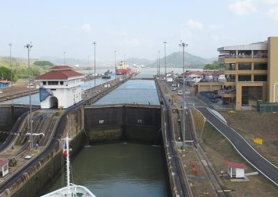 Chase | Panama Canal 05 3rd lock full and will drain into 2nd lock where ship is