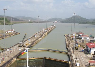 Chase | Panama Canal 08 When 3rd lock equal to sea level gates open