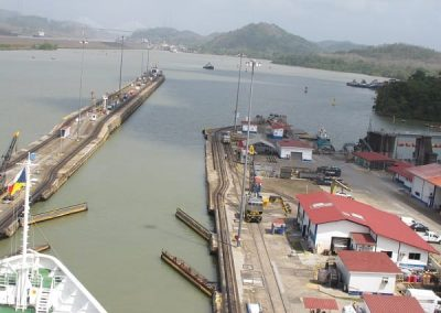 Chase | Panama Canal 09 Last lock equal now to sea level and gates open
