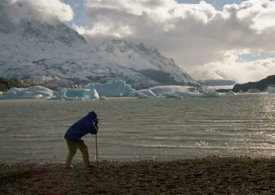 Filming icebergs in Patagonia