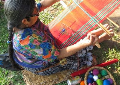 Guatemalan weavers are famous