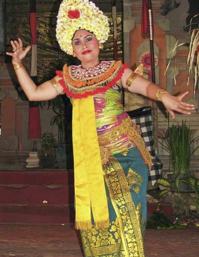Performing for the pleasure of spirits in Ubud, Bali