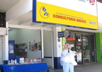 Pharmacist blow up man advertising