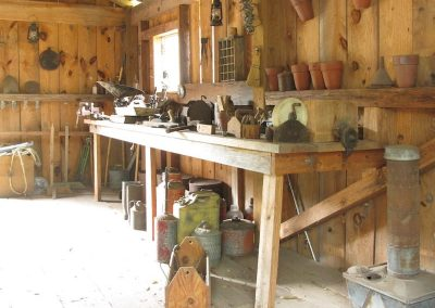Tool shed with original 1930s tools